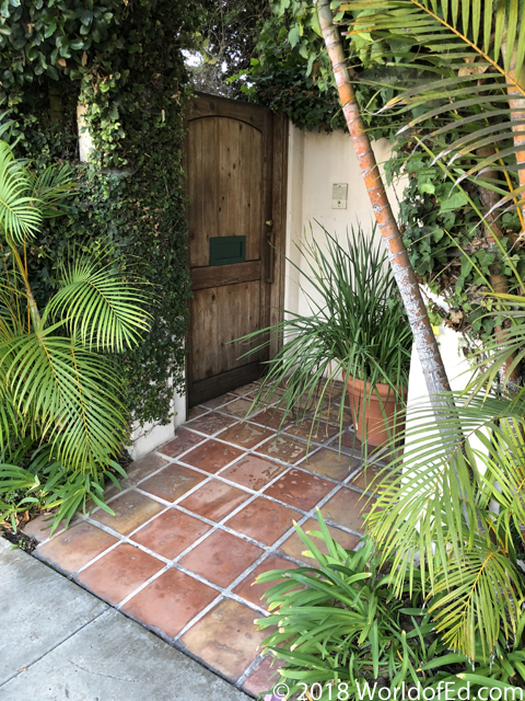 The courtyard where Nicole Brown Simpson was murdered.